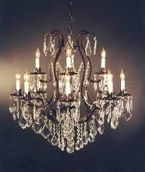 winsome inspiration wrought iron chandeliers with crystal accents 18