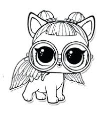 Lol Doll Coloring Pages Pets Dolls Colouring For Adults Free