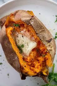 air fryer baked sweet potato a