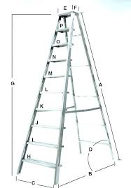 Ladder Height Chart A Frame Ladder Sizes Danielpapper Co