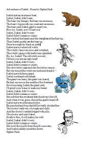 Adventures of Isabel by Ogden Nash Poems Pinterest