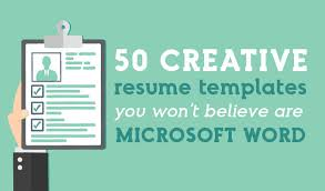 Word Resume Templates Custom 60 Creative Resume Templates You Won't Believe Are Microsoft Word