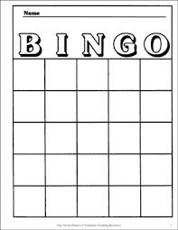 Bingo Card Template Printable Bingo And Skills Sheets