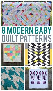 8 Scrap-Friendly Modern Baby Quilts & 8 Modern Baby Quilt Patterns Adamdwight.com