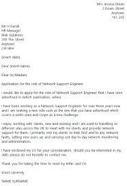 Support Engineer Cover Letter Elnours Com