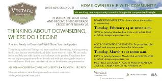 vintage cooperative of ankeny information meeting and part of  vintage cooperative of ankeny information meeting and part 1 of 2 educational topics ldquodownsizing made easyrdquo tuesday 14 at 10 am