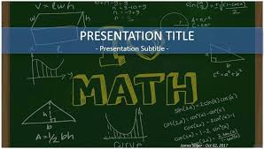 Chalkboard Ppt Theme Math Themed Powerpoint Templates Basic Backgrounds Is A Blue And