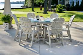 full size of patio impressive furniture table counter height with small round and concrete tiles material