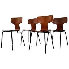 arne jacobsen furniture. Model 3103 Teak Hammer Chairs By Arne Jacobsen For Fritz Hansen, 1960s Sale Furniture O