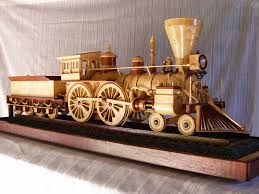 a former railroad employee builds a running model steam locomotive from wood