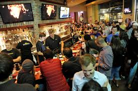 busy restaurant scene. The Scene By Bar On World Of Beer\u0027s Opening Weekend. Busy Restaurant E