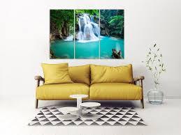home wall decor waterfall art canvas