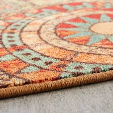 mohawk home alexa medallion indoor outdoor nylon rug multi colored com