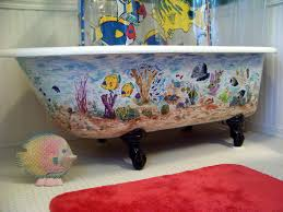 tub tunes bathtub painting by colorado artist mary arneson