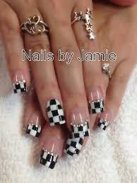 Nascar Nail Art Designs Checkered Flag Nails By Jamie Duffield Eugene Oregon 541