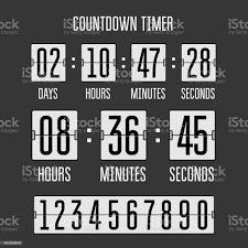 Flip Countdown Zähler Zeitschaltuhr Auf Schwarz Stock Vektor Art und mehr  Bilder von Countdown - iStock