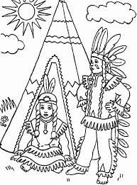 Small Picture Two Native American in Front of Teepee on Native American Day