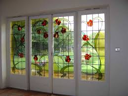 leaded glass french doors designer glass works recent works