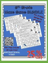 6th Grade Math Maze Game Bundle 8 Mazes In One By Boom Feeny Tpt