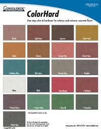 Prosoco Gemtone Color Chart Consolideck Colorhard