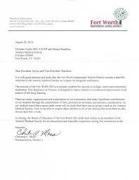 Welcome Letter Template Welcome Letter From Fort Worth Independent Examples Of