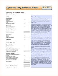 Opening Balance Sheet Template 24 opening balance sheet Outline Templates 1