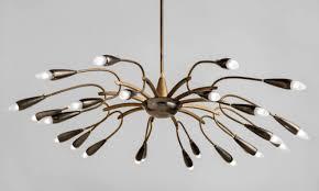 brass double arm chandelier