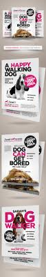 dog walker flyer templates on behance