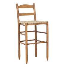 wood counter height stools. Shaker Style Wooden Bar Stool With Ladder Back And Wicker Wood Counter Height Stools E