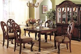 french sytle dining room decoration with vine furniture and formal dining room table centerpieces with flower decoration under antique hanging l
