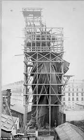 best new york statue of liberty images statue unearthed photos of the statue of liberty being built in paris before she was dedicated to the people of america