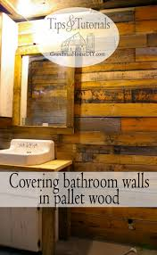 Pallet Wall Bathroom Covering Walls With Pallet Wood The Basement Bathroom Renovation