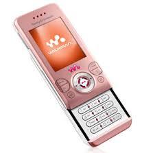 sony ericsson slide phone. sim free sony ericsson w580i - pink slide phone