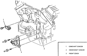 1954 ford mainline 3 9l 2bl 8cyl repair guides electronic 9 camshaft and crankshaft sensor locations shown 3 8l engine