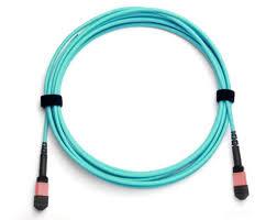 24 fiber mtp mpo fiber optic cable multimode om4 plenum