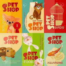 Pet Poster Vintage Pet Shop Poster Design Set Royalty Free Cliparts Vectors 14