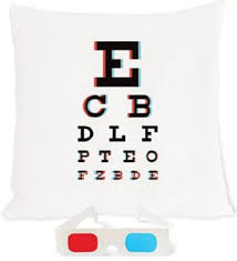 3d Eye Chart Pillow With Anaglyph Glasses Popsugar Tech