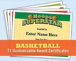 Basketball Certificate Templates Awards Sports Feel Good Stories