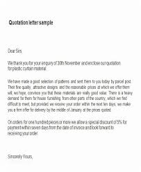 Quotation Letter Sample In Doc Cool 48 Sample Price Proposal And Quotation Letter Ambfaizelismail