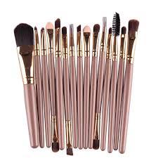 aliexpress toopoot 2016 professional 15pcs sets eye shadow foundation eyebrow lip brush makeup brushes set estics pincel maquiagem from