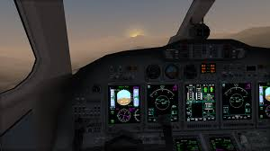 Citation In The Morning Flightsim
