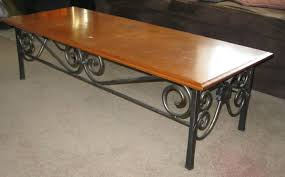wood and wrought iron furniture. Custom Made Wrought Iron Coffee Table Wood And Wrought Iron Furniture A