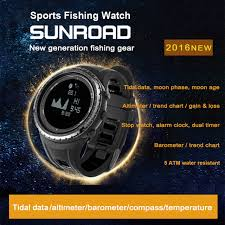 Us 79 99 5atm Sport Watch Outdoor Climbing Moon Graph Tidal Data Fishing Watch Altimeter Barometer Compass Weather Forecast In Compass From Sports