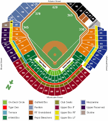 Comerica Park Seating Chart Game Information