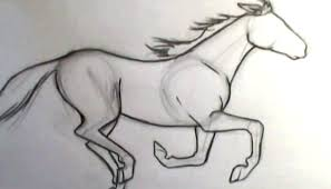 ic book video tutorials draw horse galloping