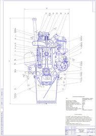 Курсовые и дипломные работы автомобили расчет устройство  Курсовой проект Двигатель рядный 4 х цилиндровый дизельный n 95 кВт n
