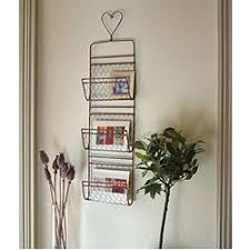 Grand Illusions Wire Heart Wall Letter Rack