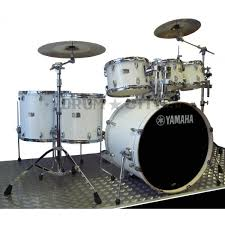 yamaha stage custom. yamaha stage custom pure white gloss 7pce drum kit inc hardware
