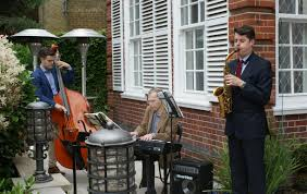 jazz band guests of the garden party ambassador l sečka with baroness rawlings and