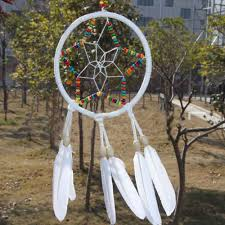 colorful star circle feathers car wall hanging decoration ornament home decor brand new decoration crafts 2473